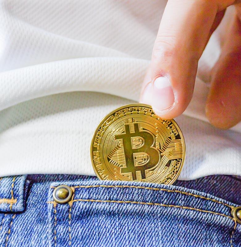 crypto-contact-coin-in-pocket